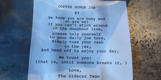 Coffee Honor Jar