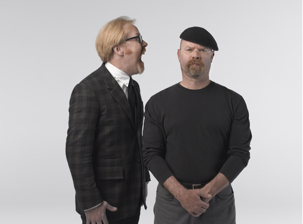 Adam Savage and Jamie Hyneman of MythBusters. Photography by Robert Fujioka Studios Inc
