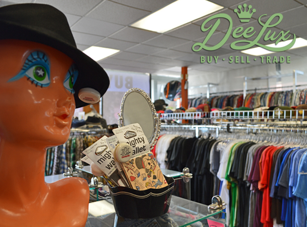 of DeeLux, the specialty store where shoppers can buy, sell and trade