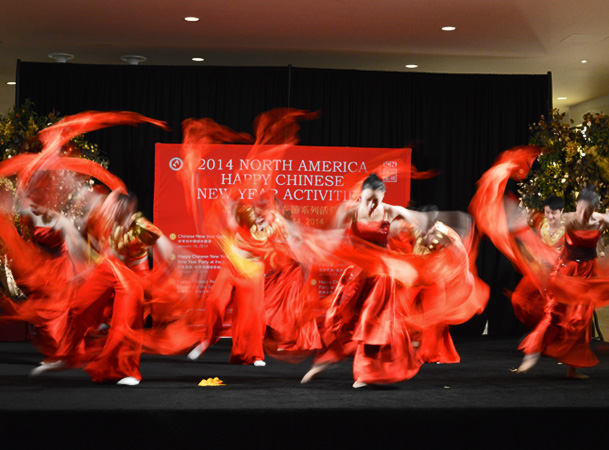 Dancers Perform for the Year of the Horse at South Coast Plaza