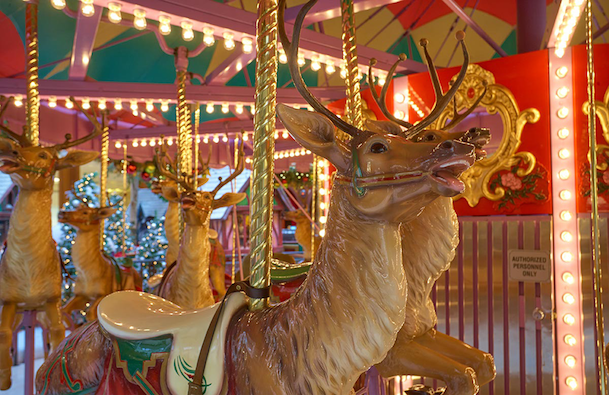 Reindeer Carousel at South Coast Plaza
