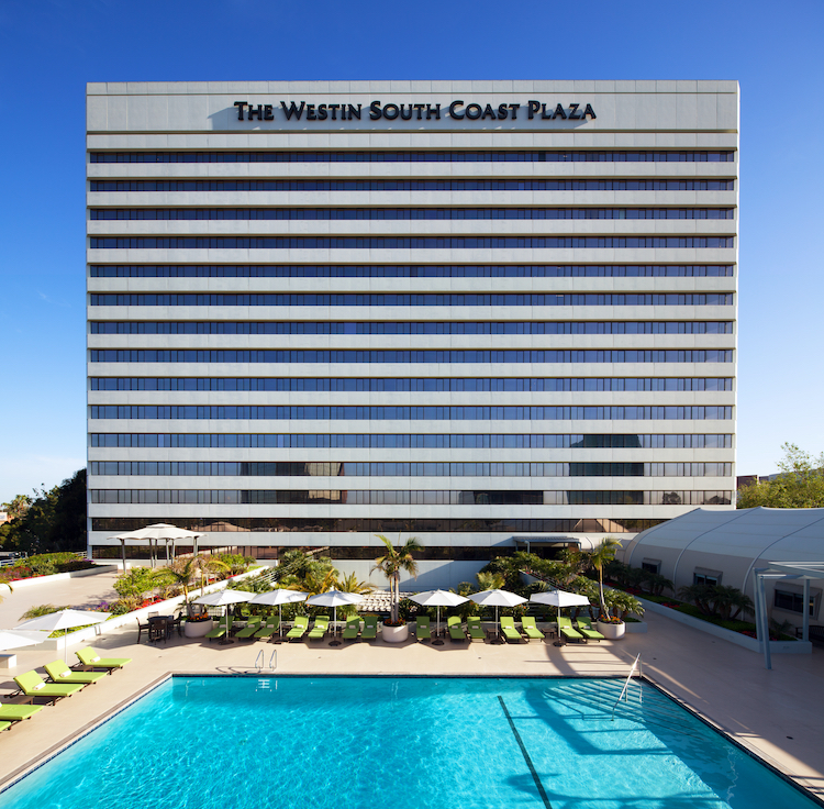 The Westin South Coast Plaza with pool in front.