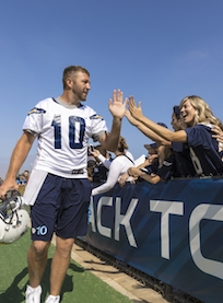 Chargers Training Camp at Jack Hammett Sports Complex in Costa Mesa July 29