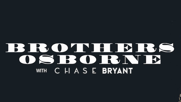 Brothers Osborne with Chase Bryant at the Pacific Amphitheatre in Costa Mesa