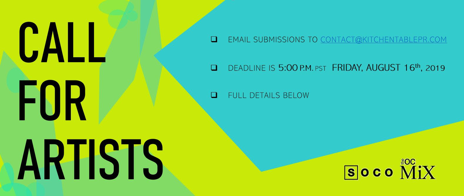 Call for Artists at SOCO + The OC Mix