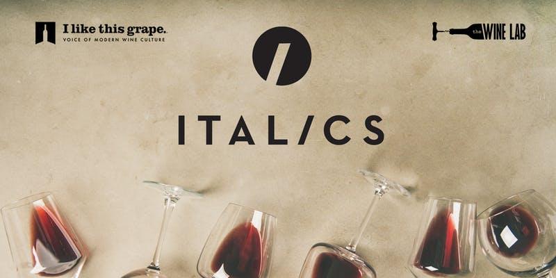 Italics Tasting Experience at Wine Lab