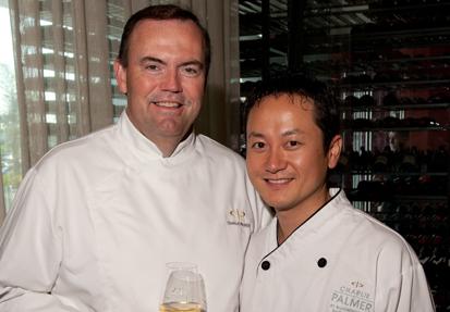 Chef Palmer and Kim hosting